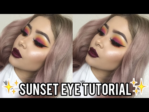 Sunset Eyeshadow Makeup Tutorial | Daisy Marquez