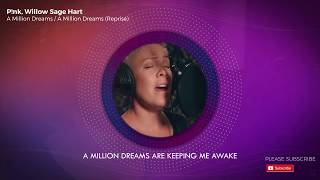 Pink & Willow Sing A Million Dreams - Epic Lyric Song Video!