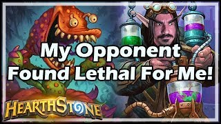 My Opponent Found Lethal For Me! - Boomsday / Hearthstone