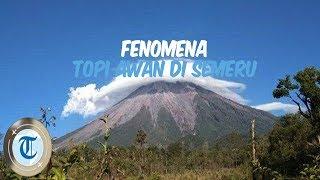 Langka, Fenomena Topi Awan Kembali Muncul di Gunung Semeru