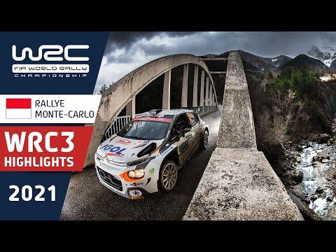 WRC3 2021 開幕戦のラリーモンテカルロ 日曜日のハイライト映像