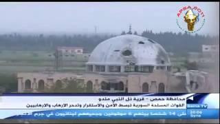 preview picture of video 'Homs Tell el Nebi Mend Bombardements massifs du tell archéologique حمص تل النبي مند قصف عنيف  للموقع'