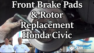 Front Brake Pads & Rotor Replace Honda Civic