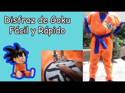 Como Hacer el Disfraz de Goku, Fácil  y Rápido