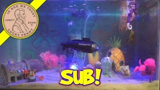 SpongeBob Fish Tank - New Shark, Sea Horse & RC Submarine!