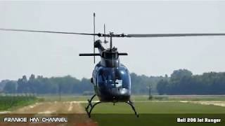 Bell 206 Jet Ranger airshow display | Bell 206 Helicopter takeoff, lowpass and landing