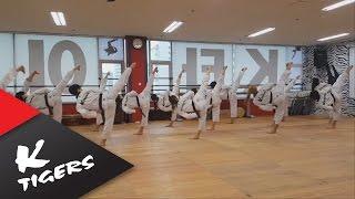 Ktigers practicing [Koryeo] poomsae K타이거즈 고려품새 연습