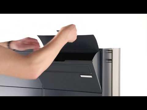 2er Paketbriefkasten SOLID freistehend - Briefkastenanlage mit Paketfach - Funktionsbeschreibung