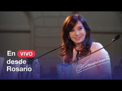 Seguí en vivo la presentación del libro de Cristina en Rosario