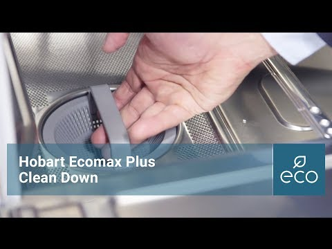 How to clean your Hobart Ecomax Plus Undercounter Dishwasher or Glasswasher