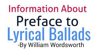 william wordsworth lyrical ballads summary