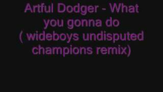 Artful Dodger - What you gonna do