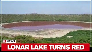 Maharashtra: Lonar lake Water In Buldhana District Changes To Red - Download this Video in MP3, M4A, WEBM, MP4, 3GP