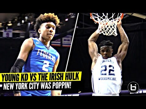 Young KD Jaden McDaniels vs The IRISH HULK w/ Carmelo Anthony Watching! BITA NYC WAS LIT!!