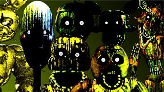Five Nights at Freddy's 3 All Jumpscares & Hallucinations