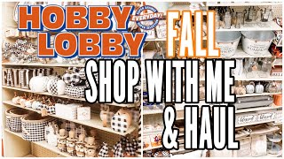 *NEW* FALL HOBBY LOBBY SHOP WITH ME & HAUL | 2020