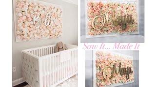 DIY Nursery Flower Wall Picture Tutorial | Saw it...Made it