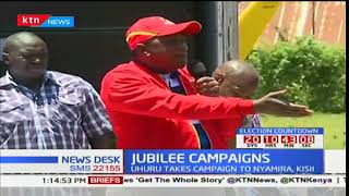 President Uhuru takes his campaign to Kisii to dram up support for repeat presidential elections