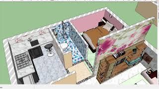 NEW 20X20 HOUSE PLAN6X6M Best Home Design Plan,Cut 3D House Plan 400SQFT,GHAR KA NAKSHA,small HOUSE