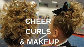 RAIL CITY ALL-STARS MAKEUP & CHEER CURLS TUTORIAL