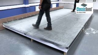 How to install EPDM roof membrane to upstand (video)