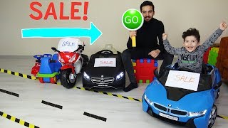 Yusuf Araba Satın Alıyor | Kids Pretend Play With Toy Cars