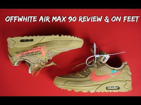 Off White X Nike Air Max 90 Desert Ore Review Kick Cc Video