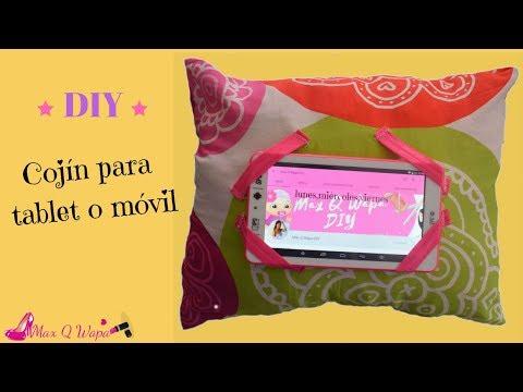 como hacer soporte para tablet o móvil en forma de cojin. ♥ | Margari