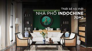 Thiết kế nội thất - Nhà phố 70m2 - Phong cách Indochine