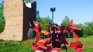 Very old tower and 2 drone QAV210 and Martian 220. FPV freestyle
