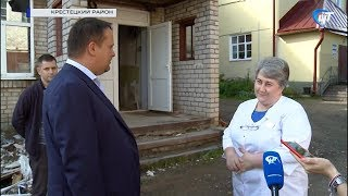 Губернатор Андрей Никитин проинспектировал ремонт ряда социальных объектов в Крестецком районе