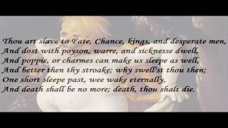 """Death Be Not Proud"" by John Donne (read by Tom O"