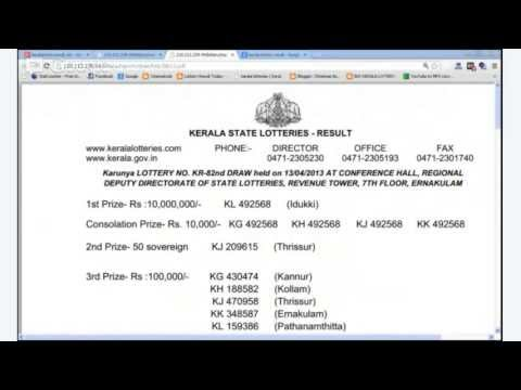 kerala lottery result today live