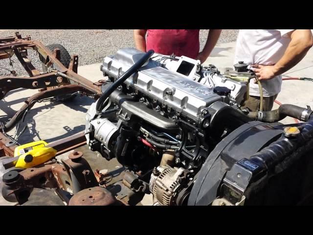 Фото к видео: Firing up the rebuilt 1HD-FT