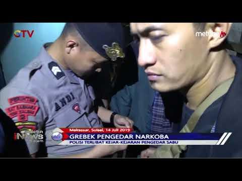 Gerebek Pengedar Narkoba di Makassar, Polisi Kejar-kejaran dengan Pelaku - BIM 15/07
