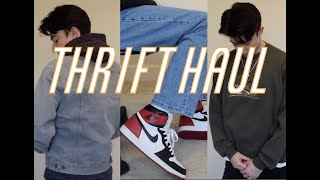 MENS CLOTHING THRIFT HAUL - Vintage Denim, Flannels, And More