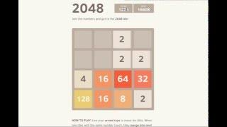 Прохождение игры 2048 / win 2048 game