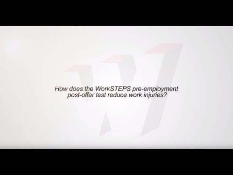 How does the WorkSTEPS pre employment post offer test reduce work injuries?
