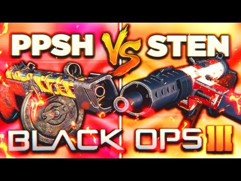PPSH vs STEN... THE ULTIMATE FACEOFF! 😱 (Black Ops 3 New DLC Weapon Update)