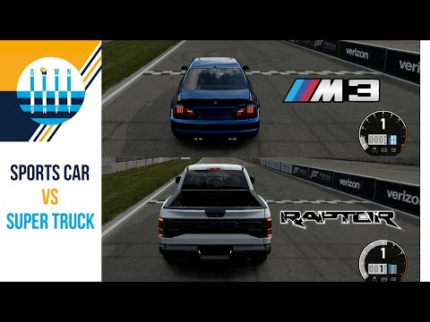 BMW M3 vs Ford Raptor - What's Faster Around A Racetrack And Review [ThrustMaster Sim]