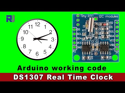 How to use DS1307 Real Time Clock with Arduino code