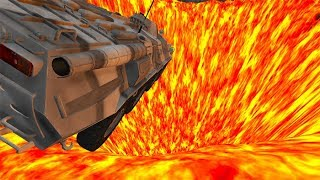 Beamng drive - Jumping In Volcano High Speed Car Jumps #3