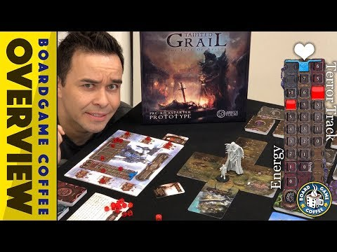 Tainted Grail: Fall of Avalon Kickstarter Prototype Overview with Board Game Coffee