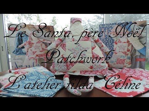 patchwork tilda le pére Noël Santa Claus