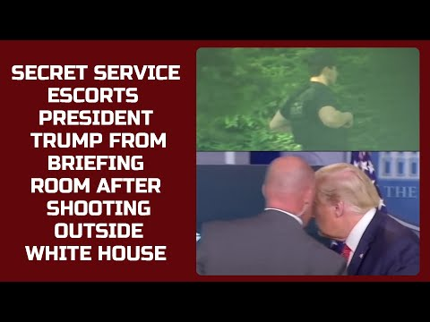 Watch: Secret Service escorts President Trump from briefing room after shooting outside White House