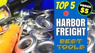 TOP 5 BEST HARBOR FREIGHT TOOLS!! (UNDER $5)