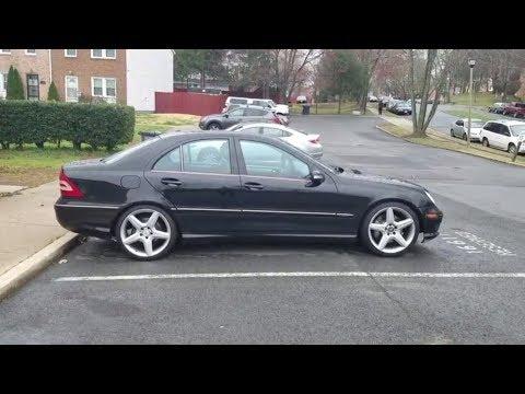 Mercedes C230 (W203) on CLS 55 (W219) AMG Wheels
