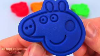 Learn Colors & Counting 1 - 8 with Play Doh and Lion Elephant Molds Surprise Toy