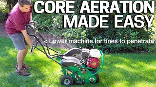 How To Aerate your Lawn EASY - CORE AERATION