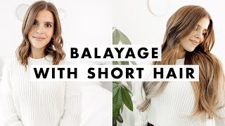 How to Blend Extensions with SHORT Hair | Luxy Hair
